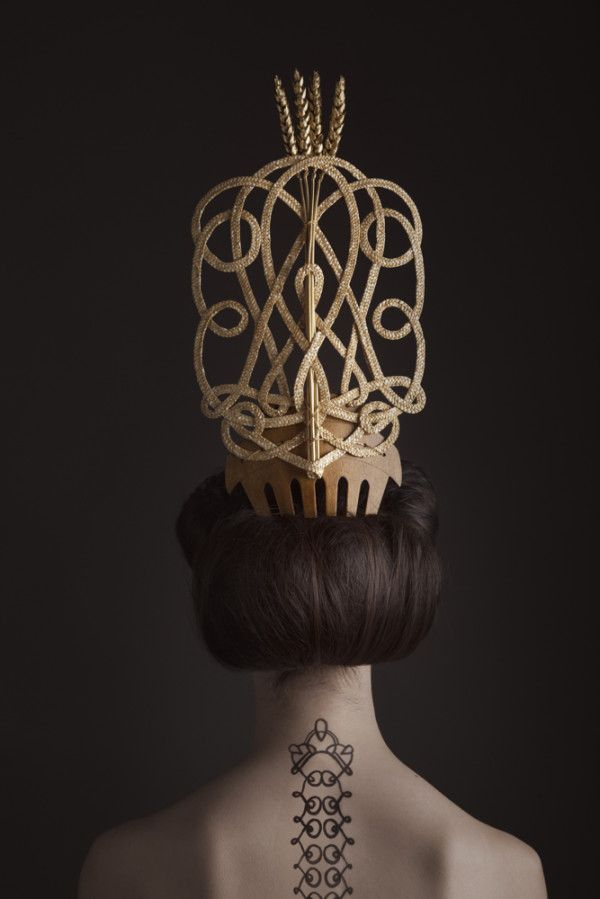 Moody & Farrell S/S '14 Campaign by Madame Peripetie [headpiece] [tattoo]