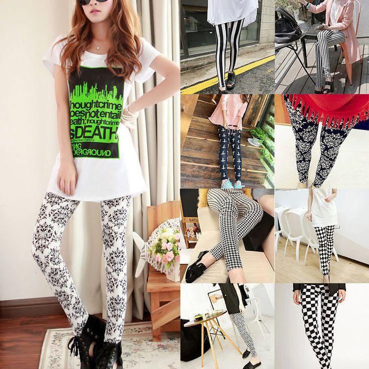 Fashion Slim Sexy Lady Skinny Print Leggings Stretchy Jeggings Pencil Pants #Unbranded