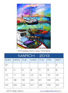 March image for the Greek Islands 2013 Art Calendar