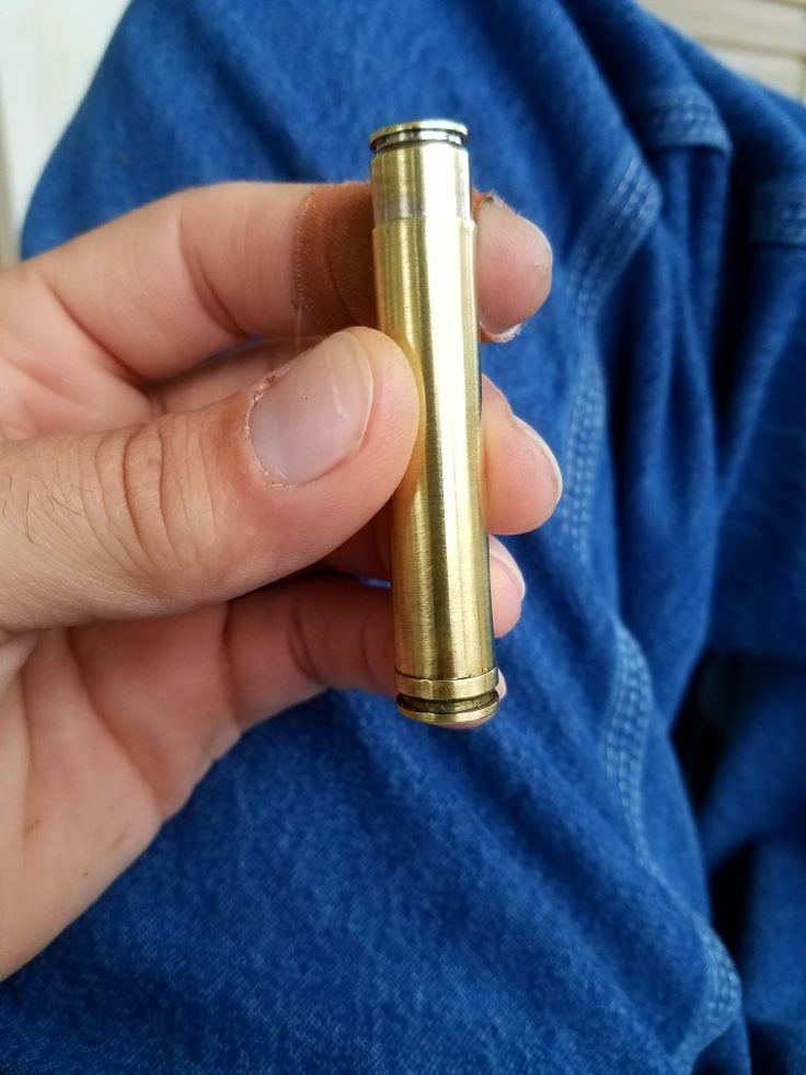 Pipe tamper ... 300 weatherby and 270 cal brass