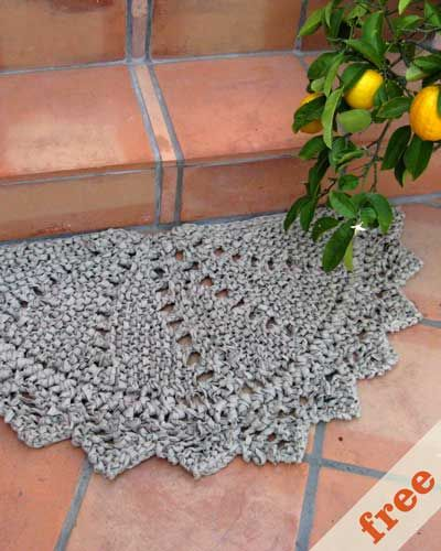 25+ Best Ideas About Knit Rug On Pinterest