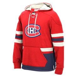 Men's Montreal Canadiens CCM Red Pullover Hoodie