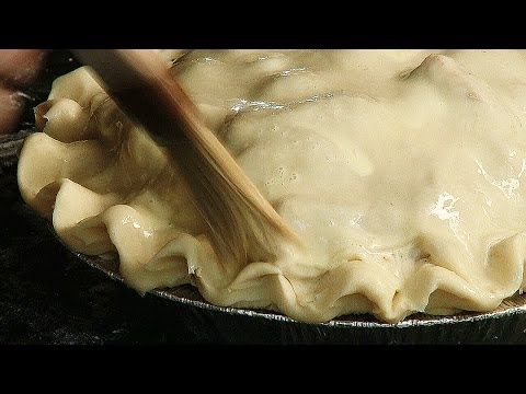 An egg wash for a pie will make the top of the crust shiny. See more at: http://Cook123.com Cook123 provides high quality video content to meet all your food...