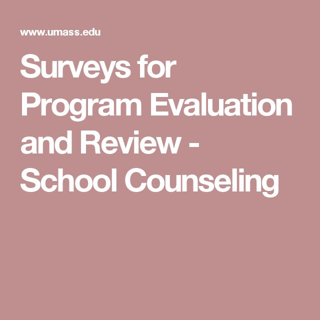 Surveys for Program Evaluation and Review - School Counseling