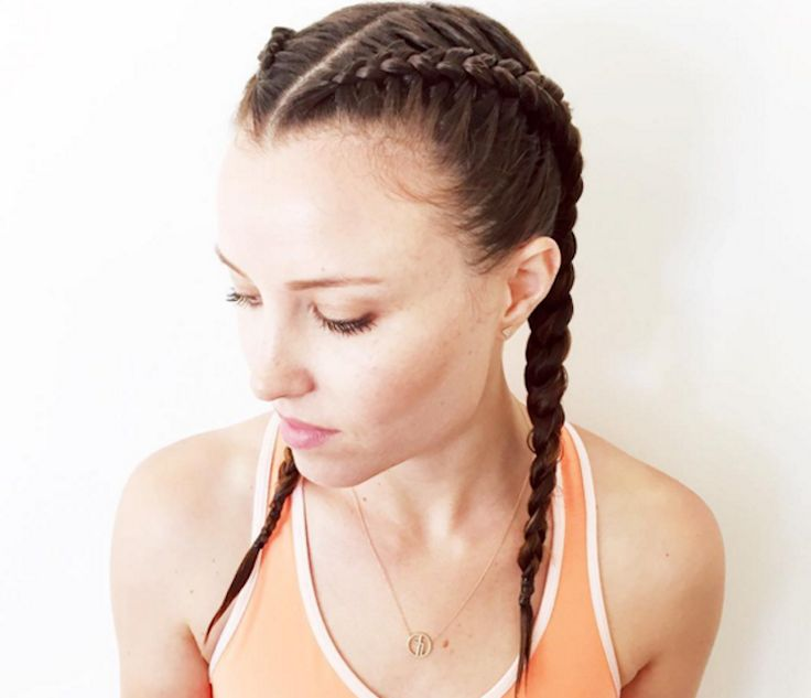 Looking for a new workout hairstyle? Follow our how-to guide for the boxer braid as seen on Hannah Bronfman and Shanina Shaik