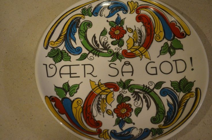Vintage Figgio Flint Norway Decorative Plate Transfer Rosemaling Norge | eBay