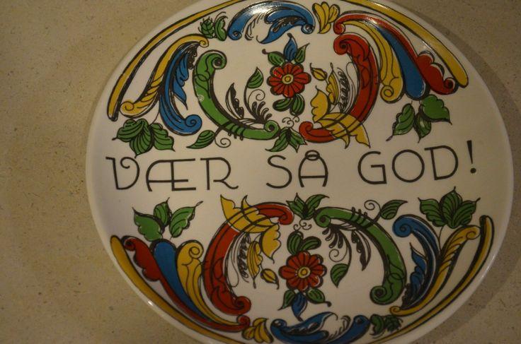 Vintage Figgio Flint Norway Decorative Plate Transfer Rosemaling Norge | eBay