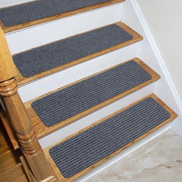 Beardsley Scrape Rib Non Slip Stair Tread Stair Treads Diy | Non Slip Stair Treads Menards | Wood | Highland Hickory | Outdoor Stair | Flooring | Treads Lowes