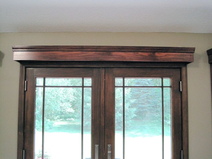 Window treatments for french doors best wood trim for Blinds for french doors ideas