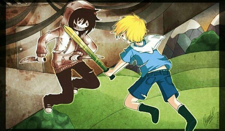 Jeff the killer vs Finn from Adventure time