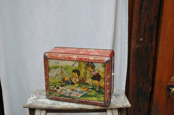 XL Antique Tin Can / Germaine Bouret / by LaBourgognedeNath