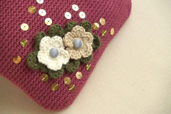 granate | Crochet | Bolsos de ganchillo, Carteras tejidas y