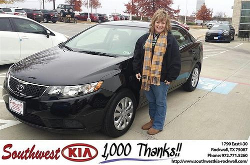 Thank you to Nicole Alexander on your new 2013 #Kia #Forte from Mauricio Pena and everyone at Southwest KIA Rockwall! #NewCar