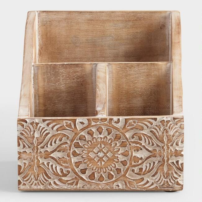 Neutral Desk Organizer Indigo For 2019 Desk Organization Wooden Desk Organizer Wood And Metal Desk