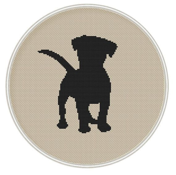 Puppy cross stitch pattern, Dog counted cross stitch, Instant Download, Free shipping, silhouette cross stitch, Cross Stitch PDF, MCS072