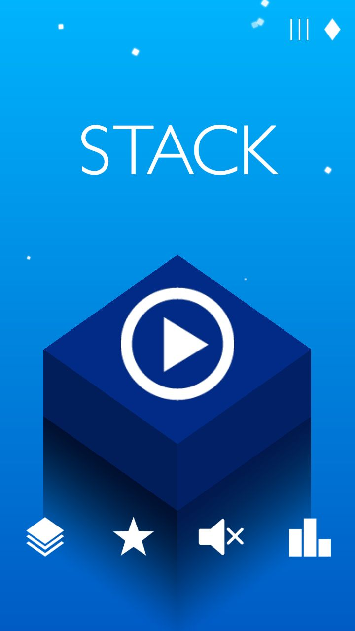 stack mobilephone game menu