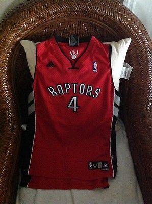Toronto Raptors Adidas chris Bosh  #4 NBA Jersey  Size L 14-16 Youth