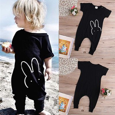 Baby Boys Girls Romper 2016 New Fashion Rabbit Short Sleeve Toddle Kids Rompers