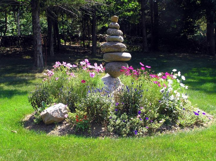 Nice focal point cairn garden yard garden pinterest for Nice garden ideas