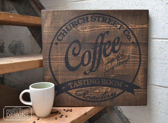 Caffè - caffè Wall Art - Decor personalizzare questo segno con il tuo nome o azienda - arte industriale