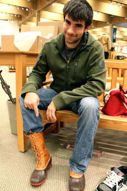 Trying On A Brand New Pair Of Ll Bean Boots Lol It S