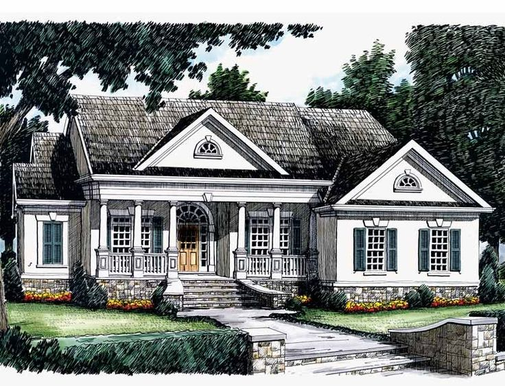 Greek Revival Floor Plans: Greek Revival House Plan With 1856 Square Feet And 3
