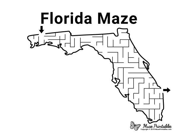Free printable Florida maze. Download it at https