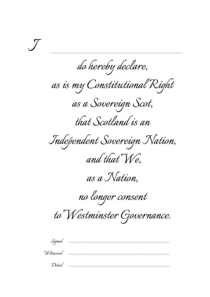 Declaration of Independence for printing or posting on other pages/groups