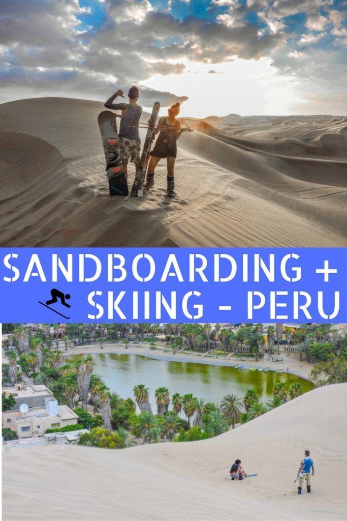 Sandboarding in Peru | Huacachina sand dunes.