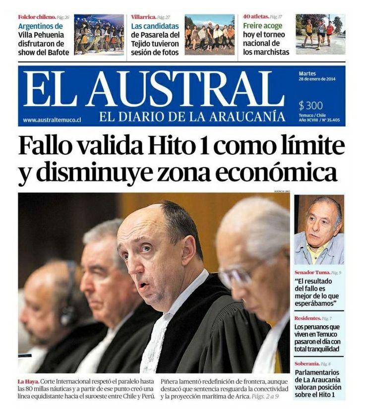 Chile - El Austral de Temuco (28.01.14).