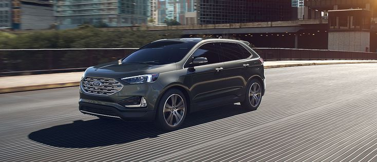 undefined 2019 Ford Edge Titanium shown in Baltic Sea Green