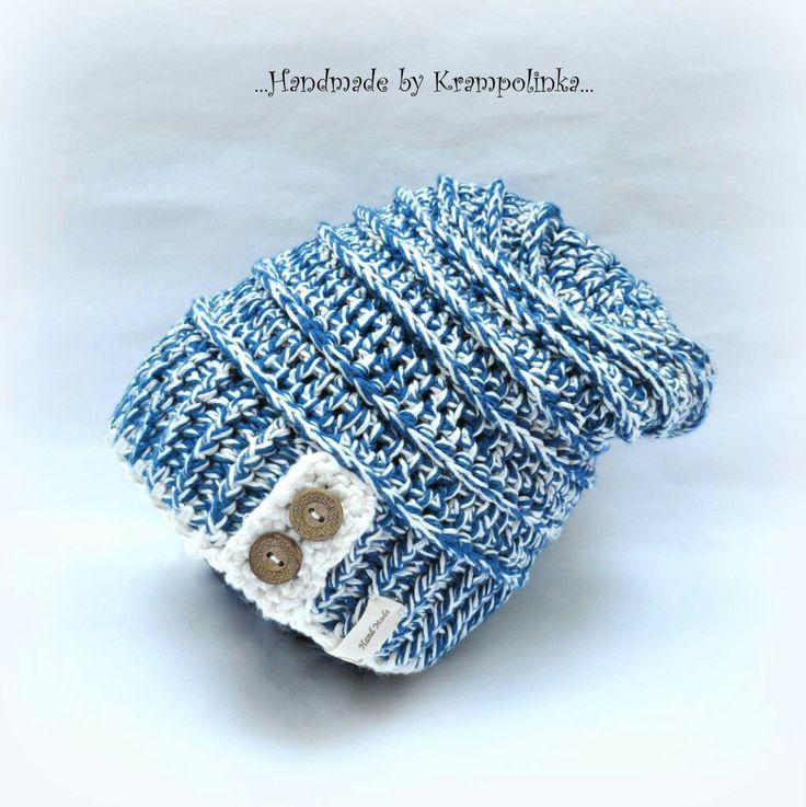 Crochet bambo slouchy   kid  hat