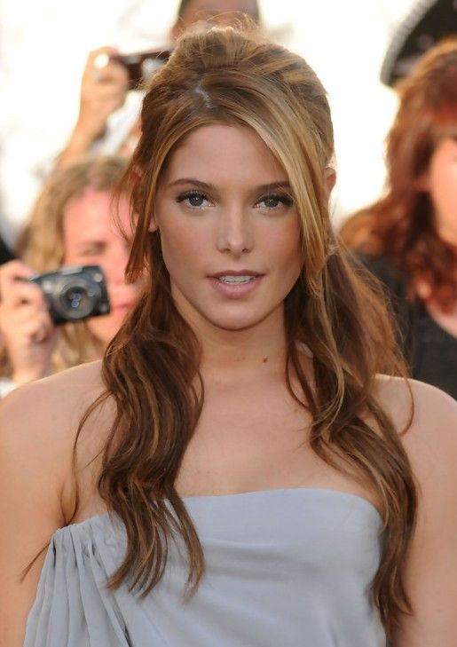 Ashley Greene Elegant Casual Half Up Half Down for Homecoming | Hairstyles Weekly