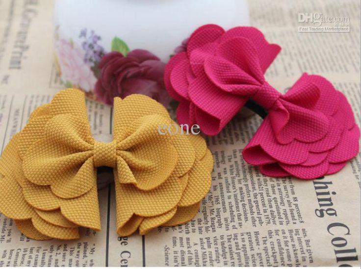 Handmade corn corduroy bow Flowers DIY Hair /shoe/bag/ accessories 8 colors eone