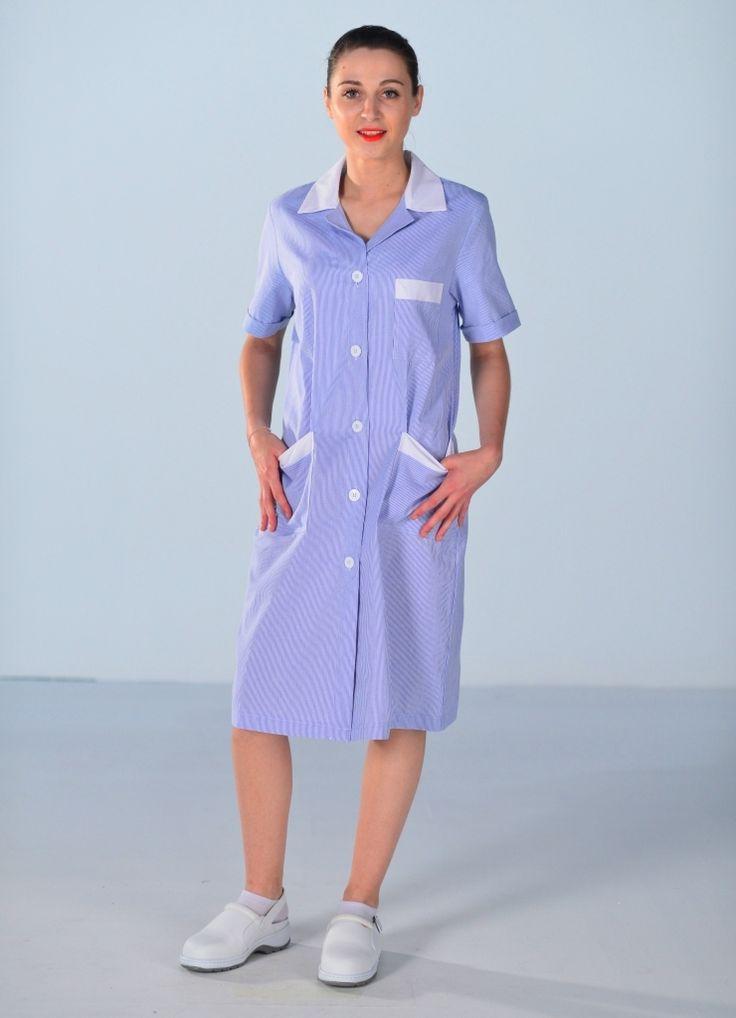blouse de travail femme de m nage bleue blouse de travail femme blouse de travail et femme de. Black Bedroom Furniture Sets. Home Design Ideas