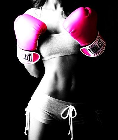hey, i forgot about boxing somehow ! ..need to find a punching bag..those pink gloves are cute too......