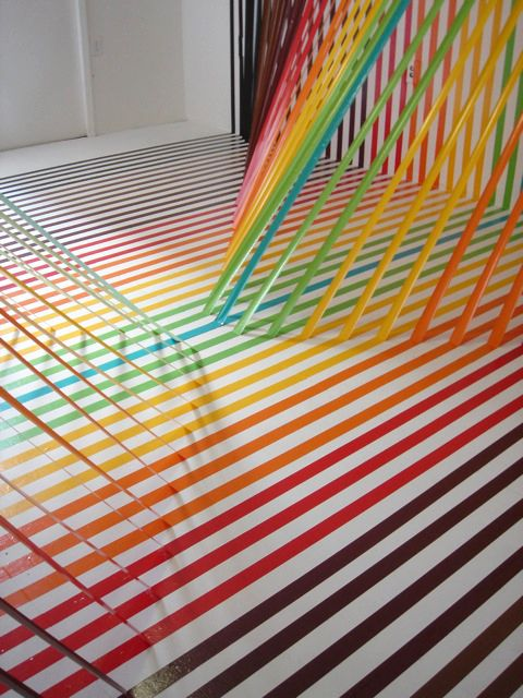 Beautiful Floor Installations made with Tape