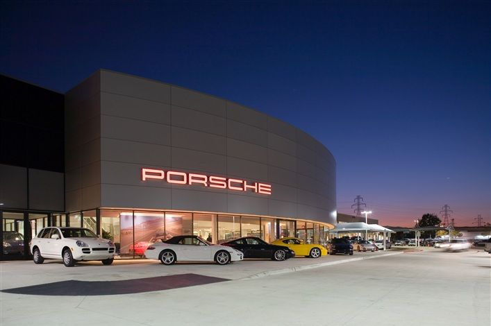 The Boardwalk Porsche dealership is a two-story, 34,000 square foot building on 9.5 acres. The tilt wall building includes one elevator and one parts and material lift, 18 service bays with hydraulic lifts and one alignment bay. The facility also features an underground exhaust system and high-end finishes such as Trespa panels, porcelain floors throughout and Armour Coat wall finishes.