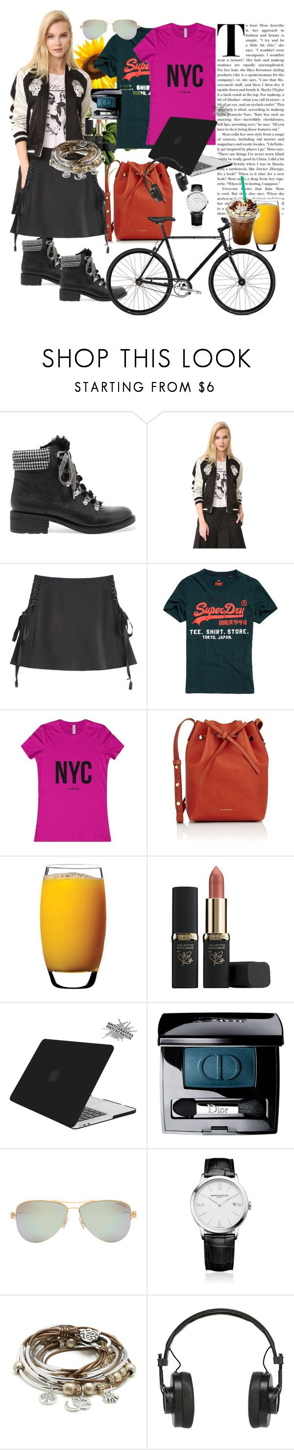 """Cool"" by silvia-viotti ❤ liked on Polyvore featuring Sam Edelman, R13, Superdry, Mansur Gavriel, Luigi Bormioli, L'Oréal Paris, Tucano, Christian Dior, Tiffany & Co. and Baume & Mercier"