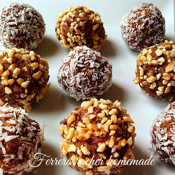 Honemade Ferrero rocher I hate Nutella but could replace it with white chocolate mousse