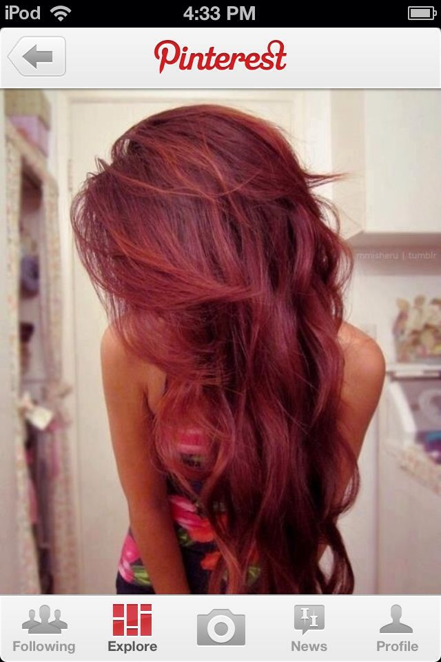 Dark intense auburn | Hair hair & hair . | Pinterest