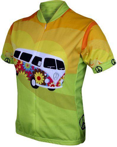 World Jerseys Women's Hippy Van Cycling Jersey, Hippy Van, Large - http://ridingjerseys.com/world-jerseys-womens-hippy-van-cycling-jersey-hippy-van-large/