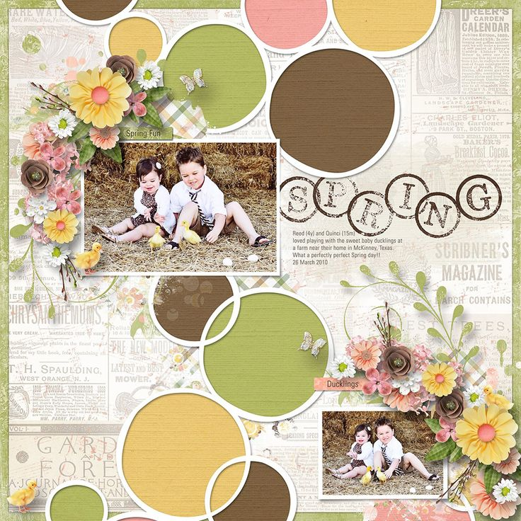 """I am going to try to pay attention to the spring. I am going to look around at all the flowers, and look up at the hectic trees. I am going to close my eyes and listen."" – Anne Lamott    Call it Spring by Lara's Digi World is bright and sunny collection perfect for Spring, Summer, Nature and everyday layouts or any other projects!"