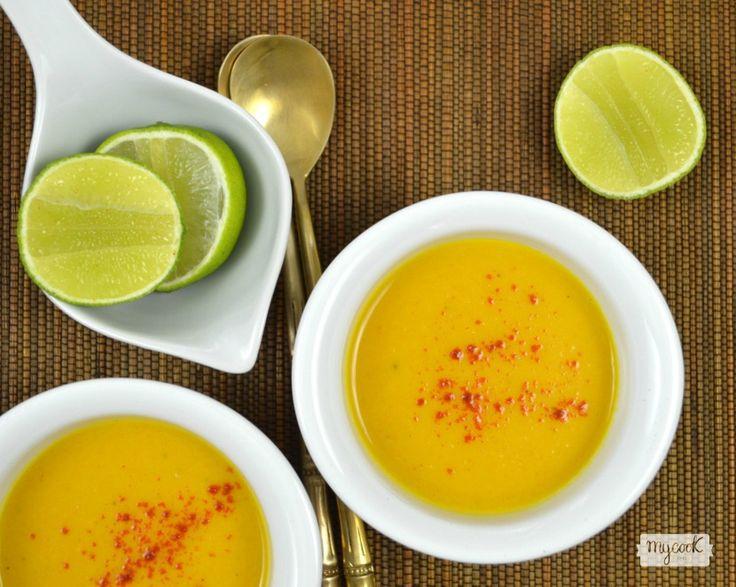 Crema de calabaza y lima - http://www.mycookrecetas.com/crema-de-calabaza-y-lima/