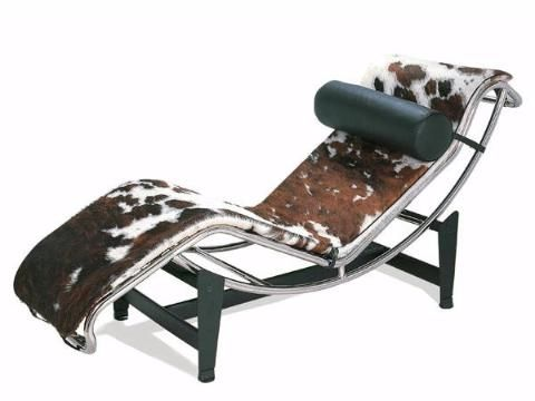 Le Corbusier Style LC4 Chaise Longue Pony Hide