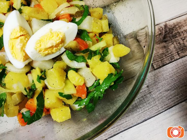 bramborový salát s řepkovým olejem