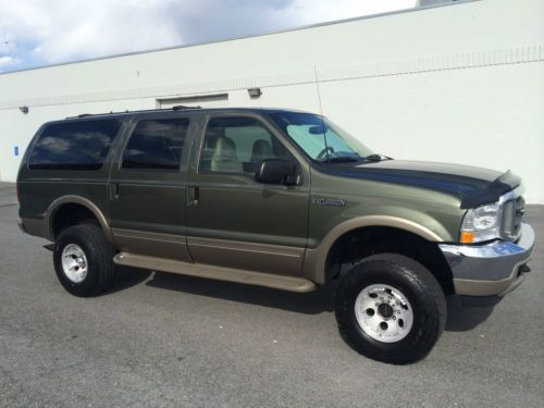 CLEAN 2000 FORD EXCURSION LIMITED 4X4 - 7.3 POWERSTROKE TURBO DIESEL, US $9,495.00, image 1