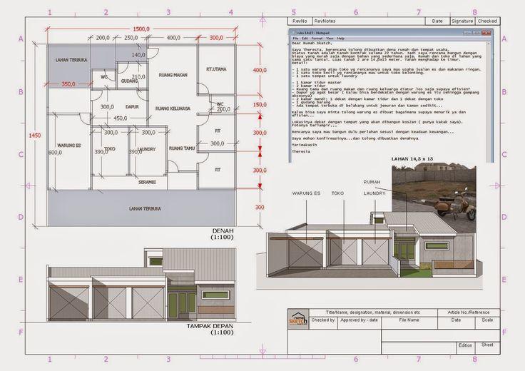 rumahSKETCH.com: Konsultasi : Rumah Usaha di Lahan 14,5 x 15 M2