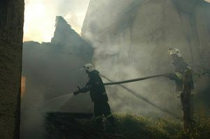 After a fire is put out, the smoke damage and smell remain.