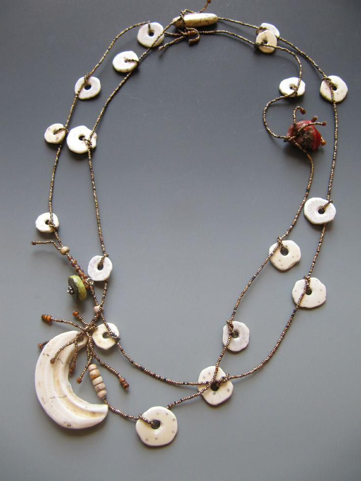 New Guinea Shell Pendant Antique African Ostrich Eggshell